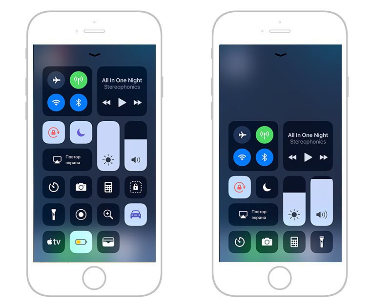 iOS 11 Пунк управления