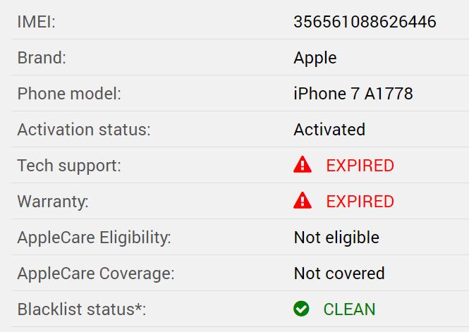 Как проверить iPhone по IMEI?