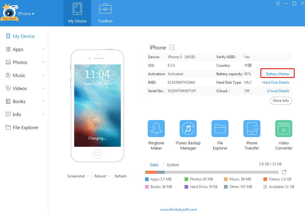 Узнаём количество циклов перезарядки iPhone и iPad